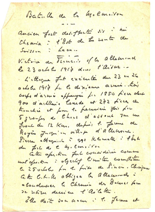 Bataille de la Malmaison - Note de Jean Collot 171023_1.JPG